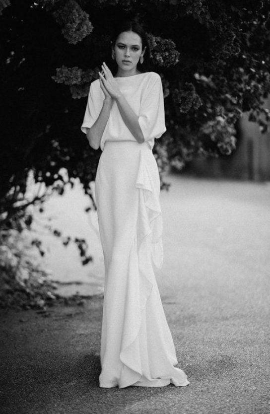 minimal wedding dresses