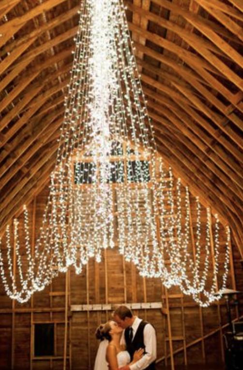 Hanging wedding decor ideas